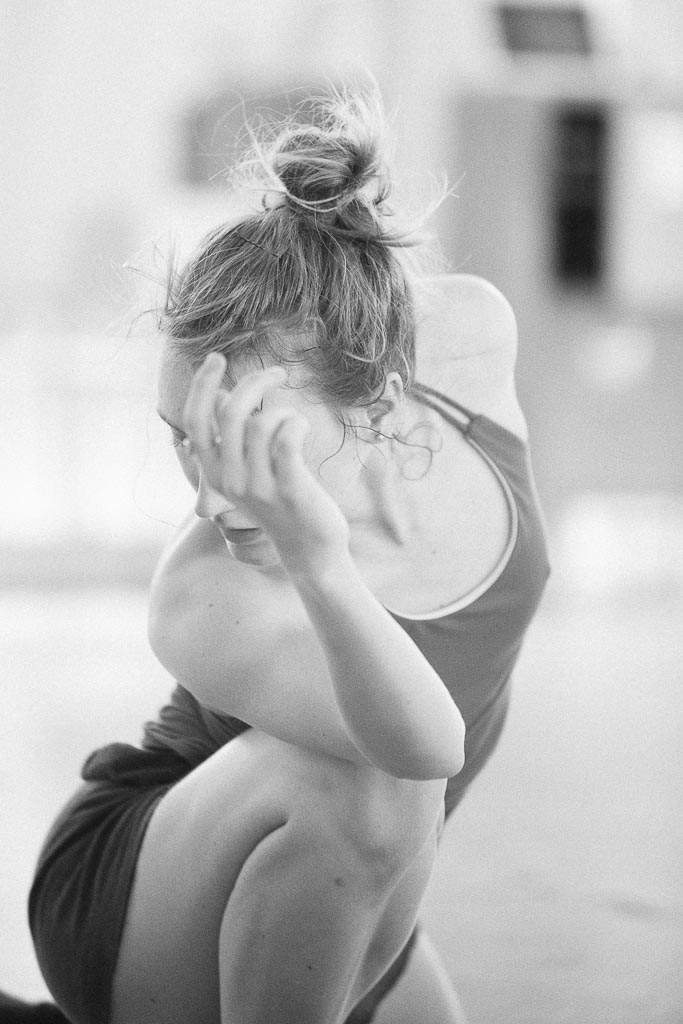 Joni Tuttle rehearses in Loni Landon's 'Covered' for Northwest Dance Project