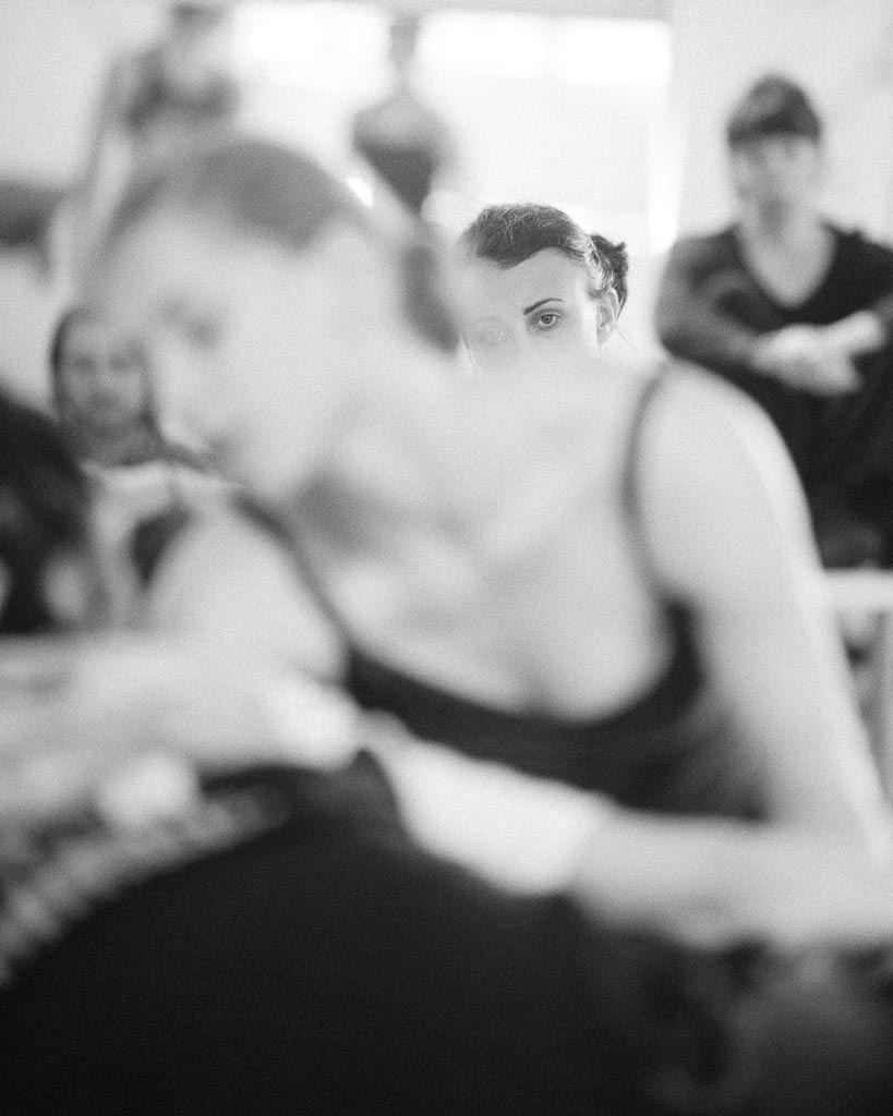 Marina Mascarel coaches dancers during Northwest Dance Project's Launch summer workshop.