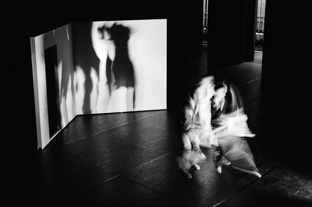 Artists of Northwest Dance Project rehearse at the Newmark Theatre in Sarah Slipper's 'Casual Act'