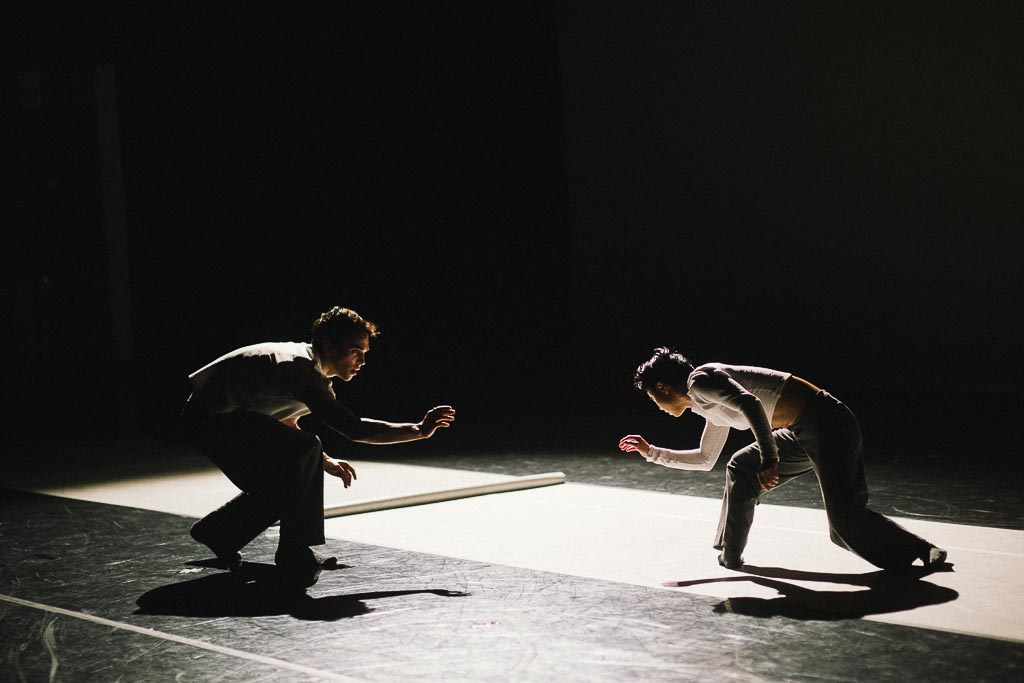 Ching Ching Wong and Viktor Usov of Northwest Dance Project rehearse Ihsan Rustem's 'Yidam'
